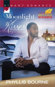 Cover Art for MOONLIGHT KISSES by Phyllis Bourne