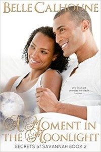 Cover Art for A MOMENT IN THE MOONLIGHT by Belle Calhoune