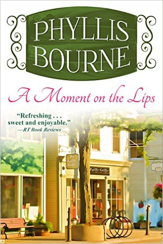 Cover Art for A MOMENT ON THE LIPS by Phyllis Bourne
