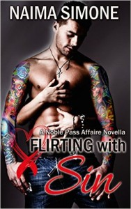 Cover Art for FLIRTING WITH SIN by Naima Simone