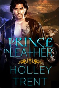 Cover Art for PRINCE IN LEATHER by Holley Trent