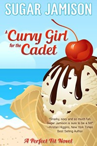 Cover Art for A CURVY GIRL FOR THE CADET by Sugar Jamison