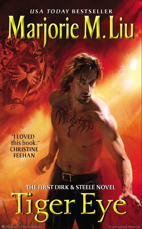 Cover Art for TIGER EYE by Marjorie M. Liu