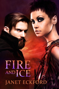 Cover Art for Fire and Ice by Janet Eckford