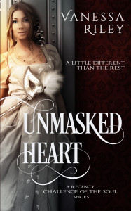 Cover Art for Unmasked Heart by Vanessa Riley