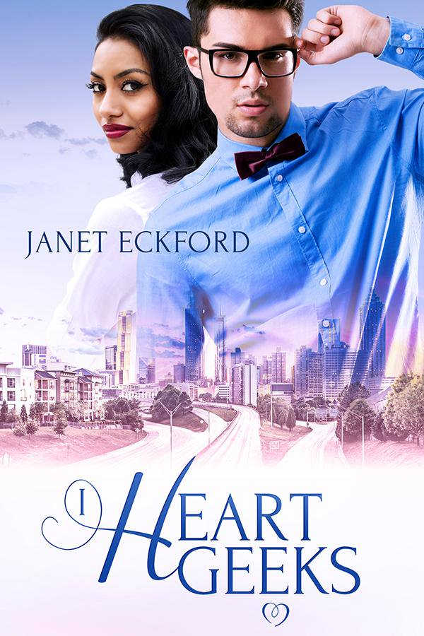 Cover Art for I HEART GEEKS by Janet Eckford