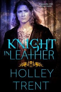 Cover Art for Knight in Leather by Holley Trent