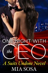 Cover Art for One Night with the CEO by Mia Sosa