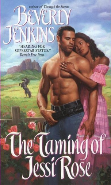 Cover Art for THE TAMING OF JESSI ROSE by Beverly Jenkins