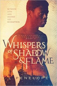 Cover Art for Whispers of Shadow & Flame by L. Penelope
