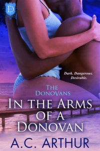 Cover Art for In The Arms of a Donovan by AC Arthur