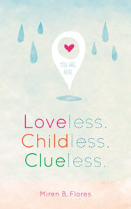 Cover Art for LOVELESS. CHILDLESS. CLUELESS. by Miren B. Flores