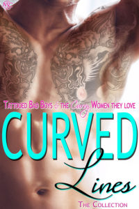 Cover Art for Curved LInes by Dee Tenorio, Dee Carney, Quinn, Allie Cooke, Jodi Redford Dawn Montgomery, Lexxie Couper, Merryn Dexter, Kathryn Lively, Tilly Greene