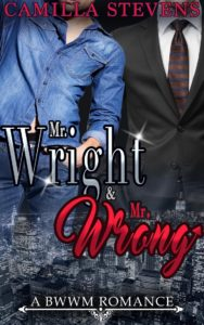 Cover Art for Mr. Wright & Mr. Wrong by Camilla Stevens