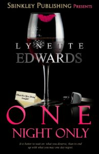 Cover Art for One Night Only by Lynette Edwards