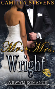Cover Art for Mr. & Mrs. Wright by Camilla Stevens