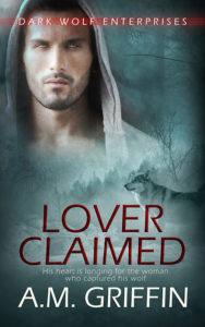 Cover Art for Lover Claimed by A.M. Griffin