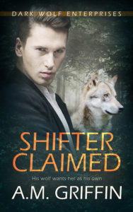 Cover Art for Shifter Claimed by A.M. Griffin