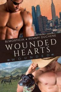 Cover Art for Wounded Hearts by BLMorticia Remmy Duchene