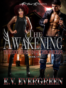 Cover Art for The Awakening (The Divine Essence Chronicles #1) by E.V. Evergreen