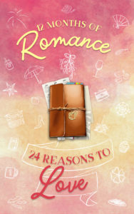 Cover Art for 12 Months of Romance | 24 Reasons to Love: A Holiday Romance Anthology by Ysa Arcangel