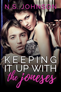 Cover Art for Keeping It Up with the Joneses by N.S. Johnson