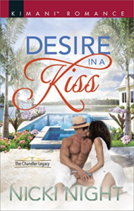 Cover Art for Desire in a Kiss (The Chandler Legacy) by Nicki Night