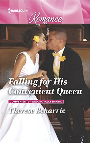 Cover Art for FALLING FOR HIS CONVENIENT QUEEN by Therese Beharrie