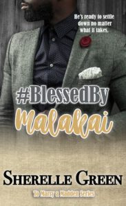 Cover Art for #BlessedByMalakai by Sherelle Green