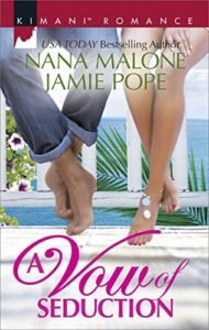 Cover Art for A Vow of Seduction: Hot Night in the Hamptons\Seduced Before Sunrise (Kimani Romance) by Nana  Malone