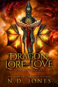 Cover Art for Dragon Lore and Love: Isis and Osiris by N.D. Jones