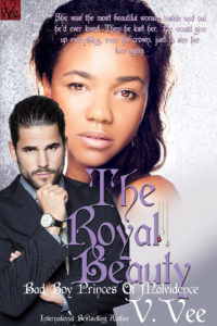 Cover Art for The Royal Beauty by V. Vee
