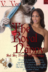 Cover Art for The Royal Nanny by V. Vee