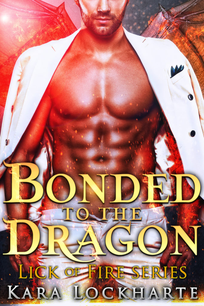 Cover Art for Bonded to the Dragon by Kara Lockharte