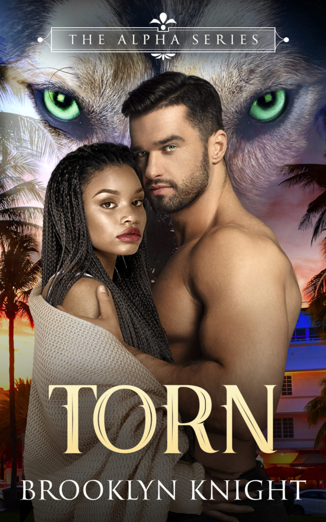 Cover Art for Torn: A BWWM Wolf Shifter Romance: The Alpha Series, Book 1 by Brooklyn Knight