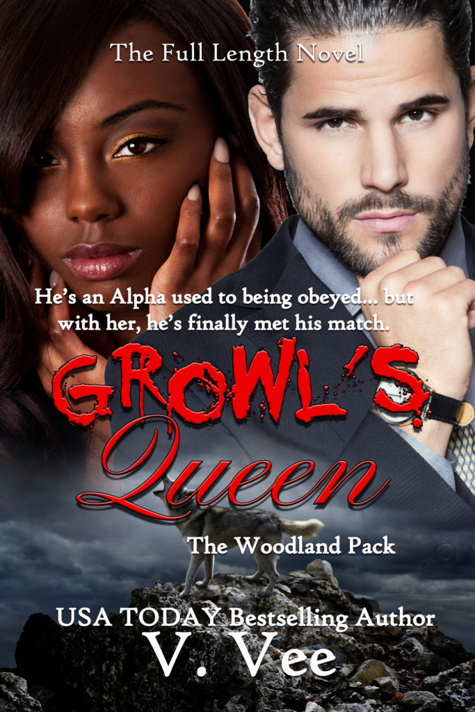 Cover Art for Growl's Queen by V. Vee