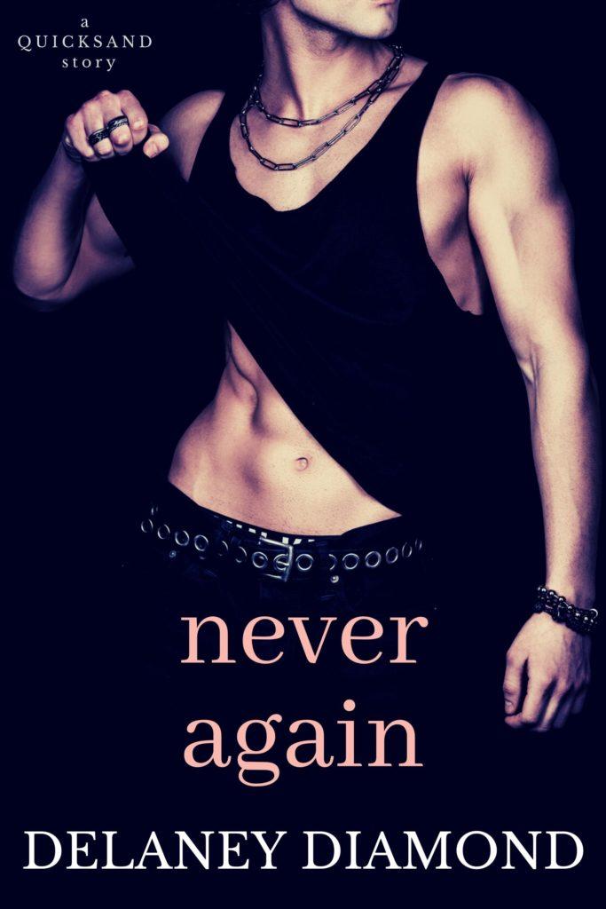 Cover Art for Never Again by Delaney Diamond