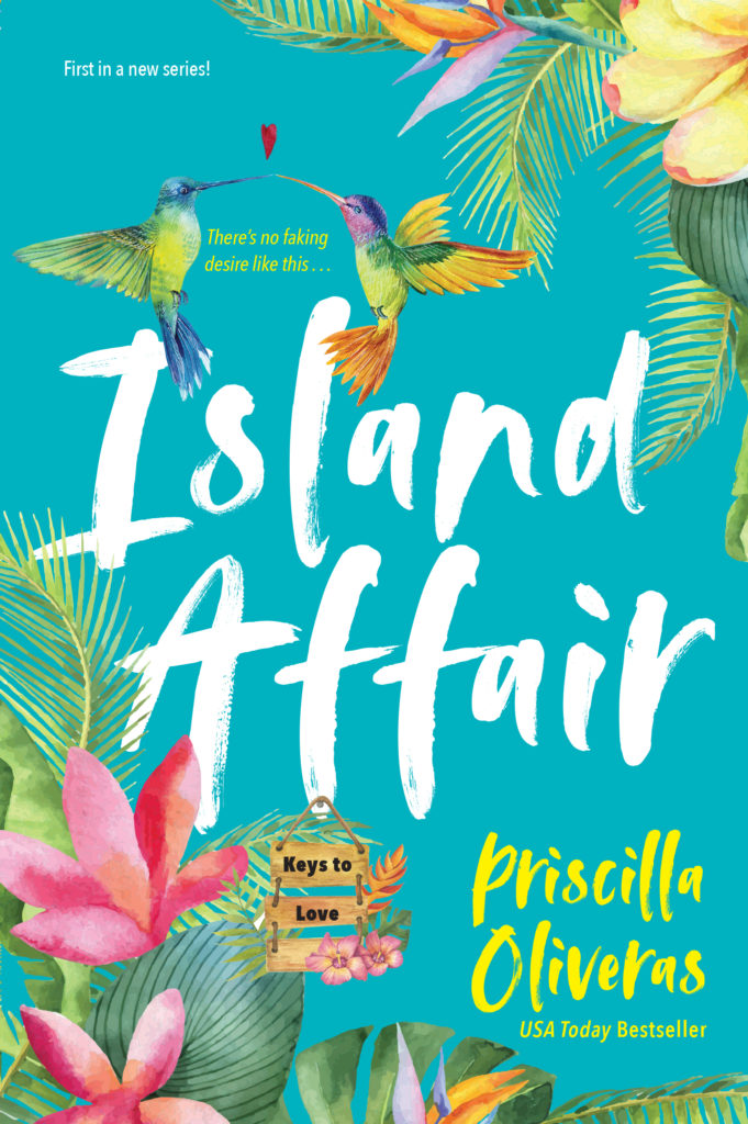 Cover Art for Island Affair by Priscilla Oliveras