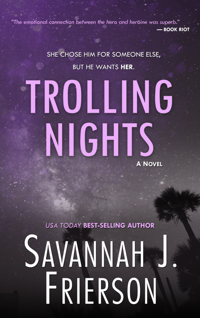 Cover Art for Trolling Nights by Savannah J. Frierson