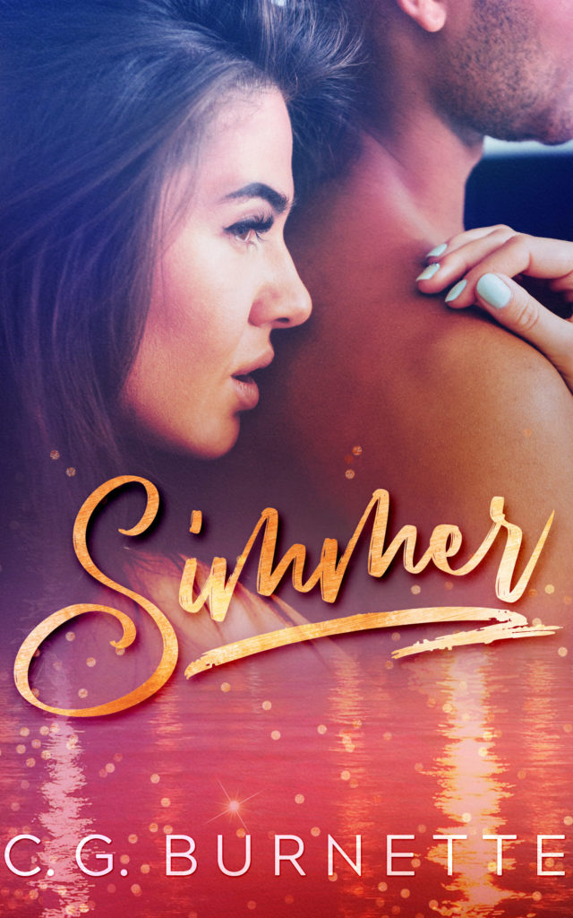 Cover Art for Simmer: A Second Chance Romance by CG Burnette