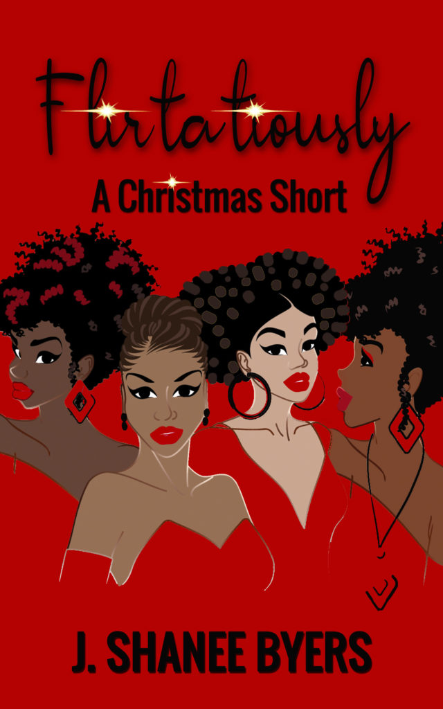 Cover Art for Flirtatiously, A Christmas Short by J. Shanee Byers