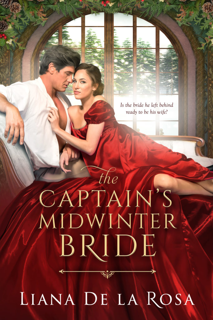 Cover Art for The Captain's Midwinter Bride by Liana De la Rosa