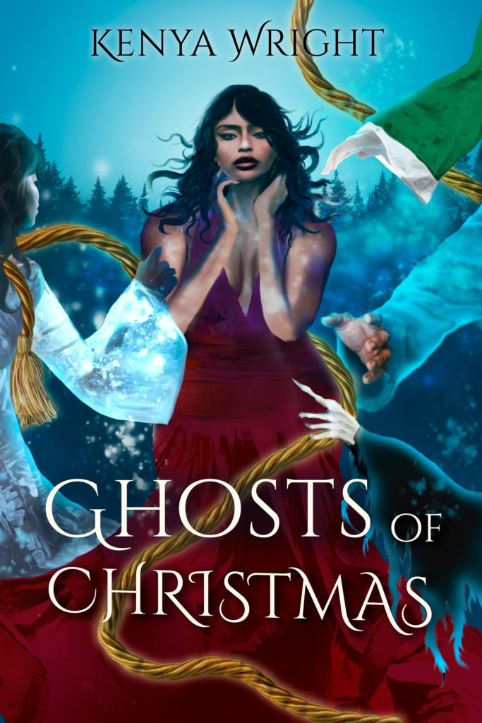 Cover Art for Ghosts of Christmas by Kenya Wright