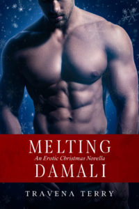 Cover Art for Melting Damali:An Erotic Christmas Romance by Travena Terry