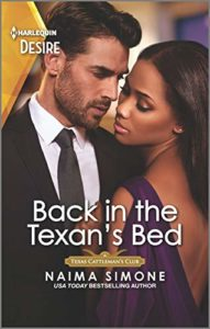 Cover Art for Back in the Texan's Bed by Naima Simone