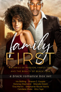 Cover Art for Family First: a black romance box set by Delaney Diamond