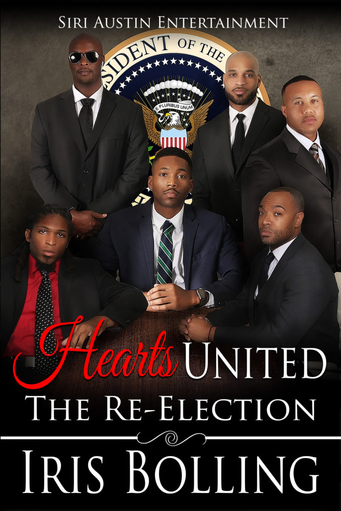 Cover Art for Hearts United – The Re-Election by Iris Bolling