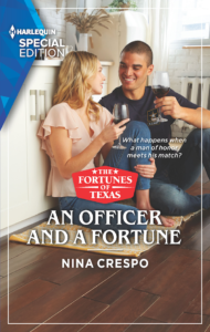 Cover Art for An Officer and a Fortune,  Book 5 (The Fortunes of Texas: The Hotel Fortune Book 5) by Nina Crespo