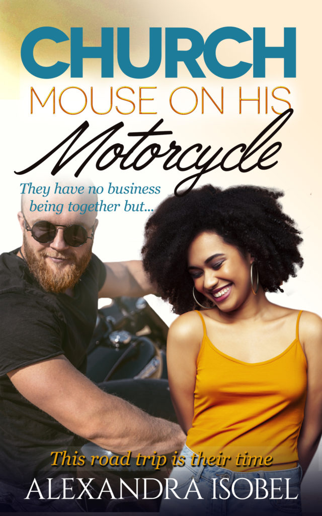 Cover Art for Church Mouse on his Motorcycle by Alexandra Isobel