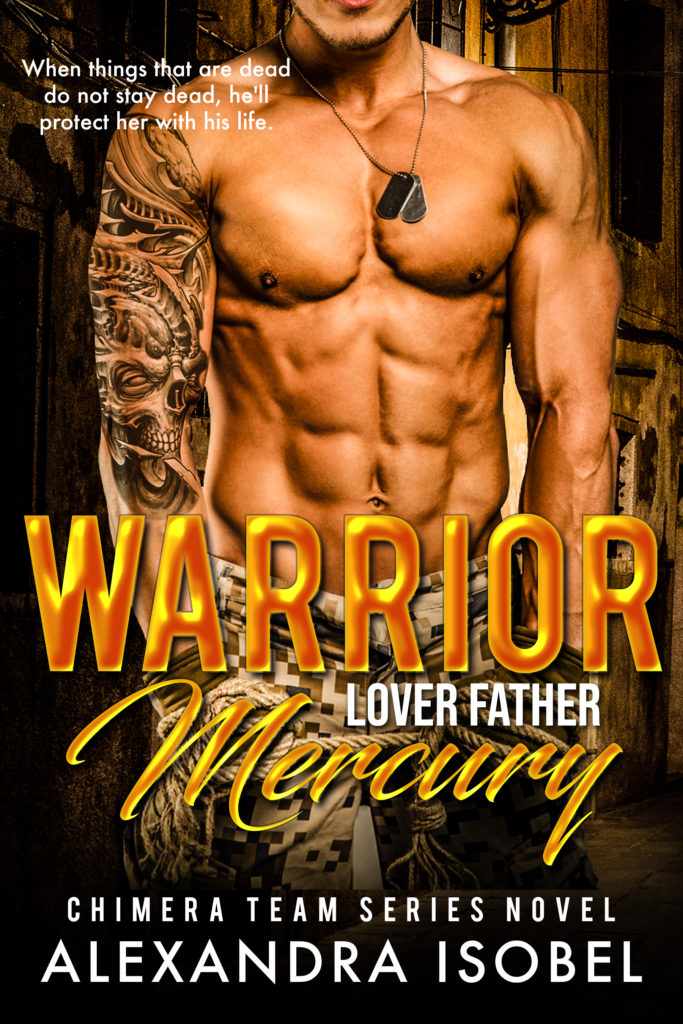 Cover Art for Warrior Lover Father Mercury by Alexandra Isobel